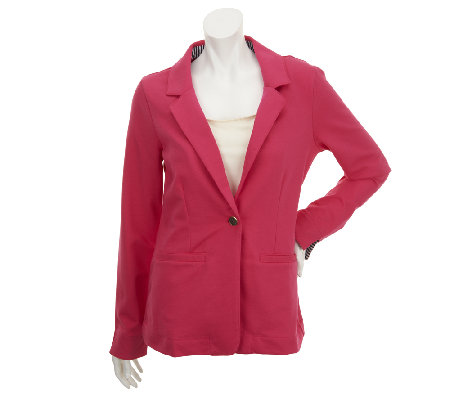 Liz Claiborne New York Long Sleeve French Terry Knit Blazer