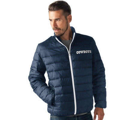 NFL Dallas Full Zip Quilted Packable Polyfill Jacket