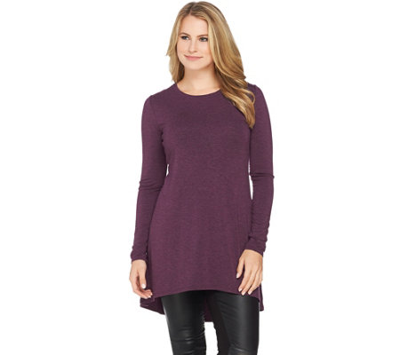 H by Halston Essentials Knit Tunic with Hi-Low Hem