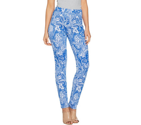 Susan Graver Weekend Printed French Knit Leggings
