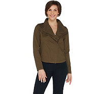 Laurie Felt Twill Military Asymmetric Zip Jacket - A302509