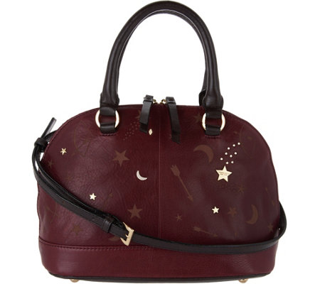 """As Is"" Tignanello Vintage Leather Andromeda Mini Dome Crossbody"