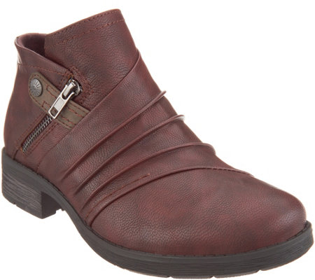 Earth Origins Ruched Ankle Boots - Natalie