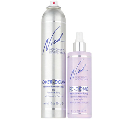 Nick Chavez 10 oz. Overdone Volume Spray & 8 oz. Re-activator