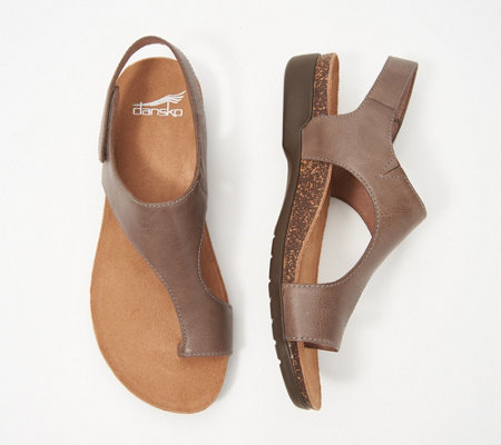 Dansko Nubuck or Suede Toe-Loop Demi-Wedges - Reece