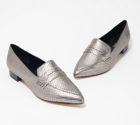 Marc Fisher Pointy Toe Penny Loafers - Feud