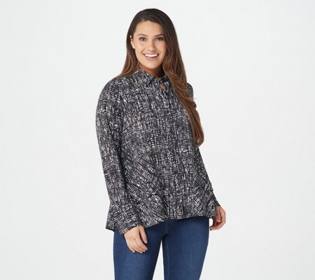 Belle by Kim Gravel Abstract Print Blouse