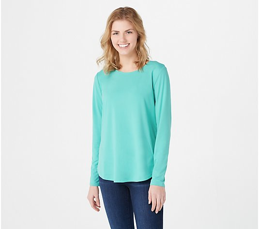 Elizabeth & Clarke Long-Sleeve Knit Top with StainTech