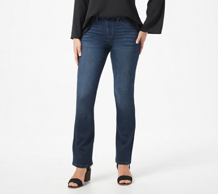 """As Is"" Laurie Felt Silky Denim Regular Pull-On Baby-Bell Jeans"