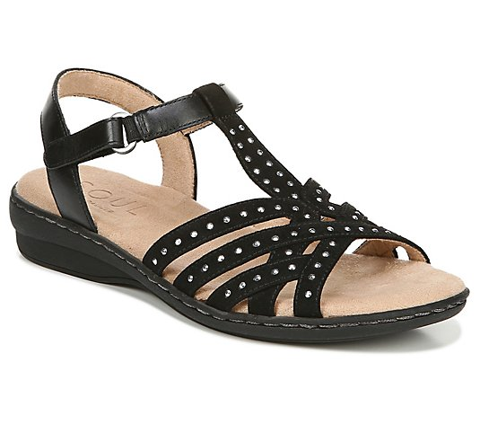 Soul Naturalizer Beaded Detail Ankle Strap Sandals - Brielle
