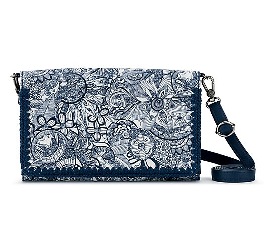 Sakroots Smartphone Mini Crossbody with CrochetDetail - Marin