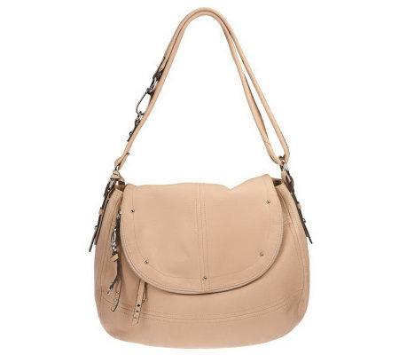 B Makowsky Cynthia Glove Leather Convertible Messenger Bag