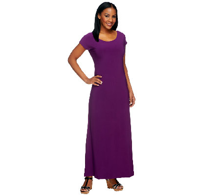 Attitudes by Renee Regular Silhouettes Cap Sleeve Maxi Dress