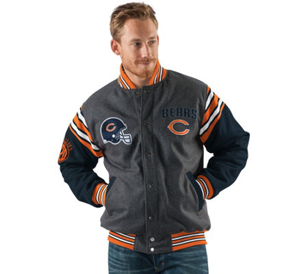 NFL Team Color Reversible Wool Blend Jacket