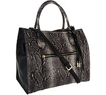 G.I.L.I. Italian Leather Exotic Winged Tote - A295510
