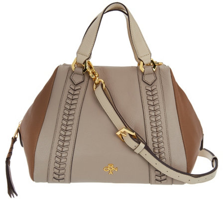 """As Is"" orYANY Pebble Leather Satchel - Elissa"