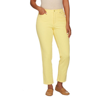 """As Is"" Isaac Mizrahi Live! Petite 24/7 Colored Denim Ankle Jeans"