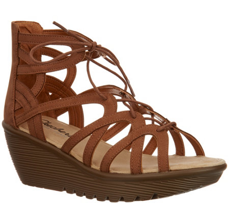 Skechers Lace-Up Wedges - Terrace