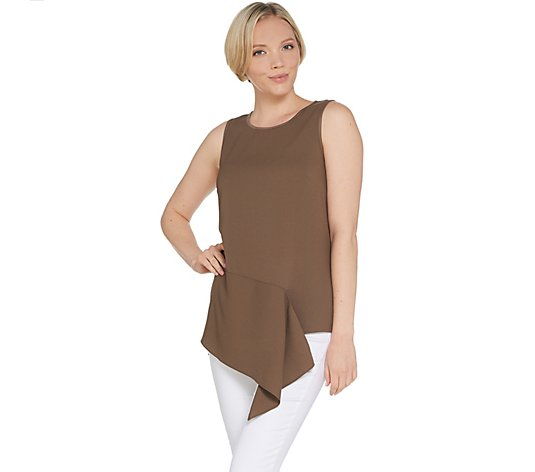 """As Is"" Lisa Rinna Collection Asymmetric Front Tank Top"