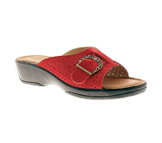 Flexus by Spring Step Edella Leather Slide Sandals