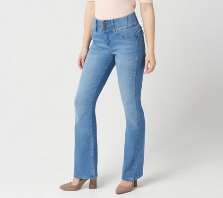 "As Is"" Laurie Felt Curve Silky Denim Boot-Cut Jeans- ""Vintage"