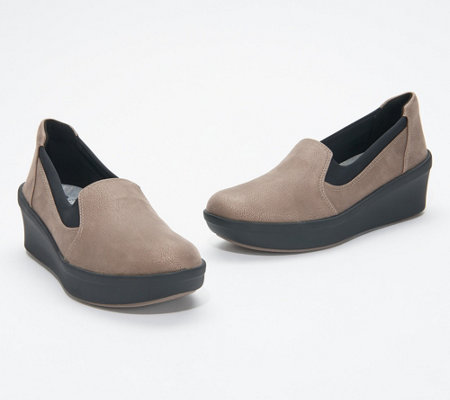 CLOUDSTEPPERS by Clarks Slip-On Wedges - Step Rose Moon