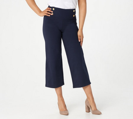 Women with Control Petite Tummy Control Sailor Crop Pants