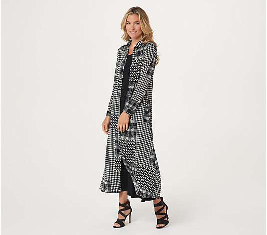 Attitudes by Renee Duster with Pockets & Maxi Dress Set