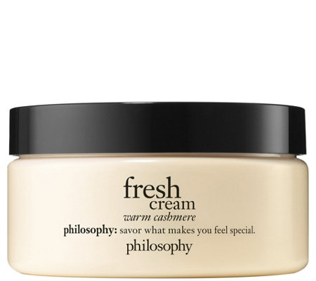 philosophy fresh cream warm cashmere body souffle, 8 fl oz