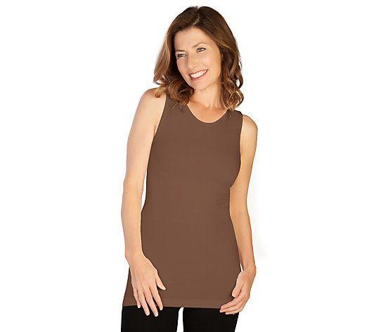 skinnytees Missy Basic Tank - High Neckline