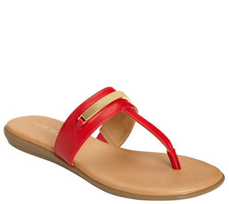 Aerosoles Thong Sandals - On the Chlock