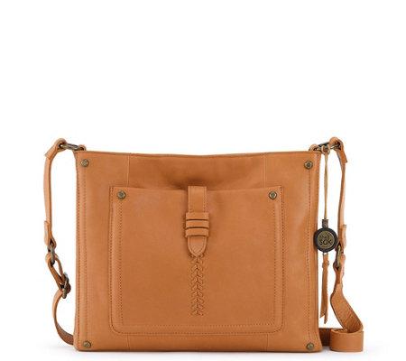 70b6c95bc9ad43 The Sak Leather Heritage Crossbody Bag — QVC.com