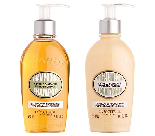 L'Occitane Almond Nourishing Haircare Shampoo &Conditioner