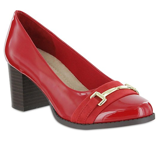 MIA Amore Slip On Patent Pumps - Ivanna