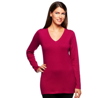 Linea by Louis Dell'Olio Whisper Knit V-Neck Tunic