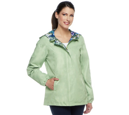 Susan Graver Reversible Zip Front Jacket with Hood