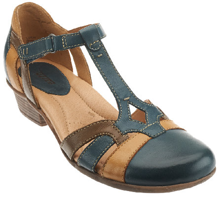 Earth Leather Sandals w/ Adjustable Strap - Luck