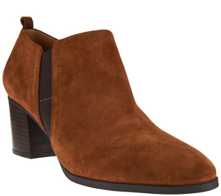 c25645741f0 Franco Sarto Leather or Suede Ankle Boots - Banner - Page 1 — QVC.com