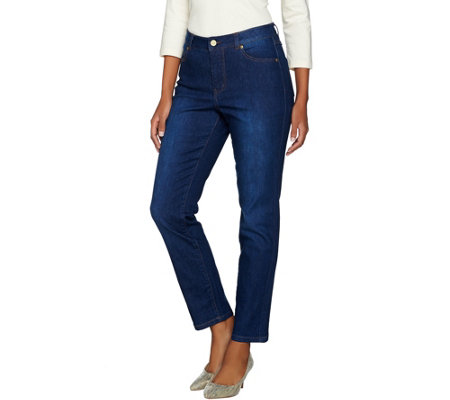 Isaac Mizrahi Live! TRUE DENIM Petite 5-Pocket Ankle Jeans