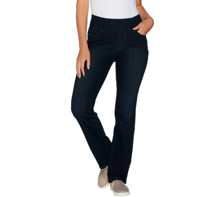 Denim & Co. Perfect Denim Smooth Waist Lightly Bootcut Jeans