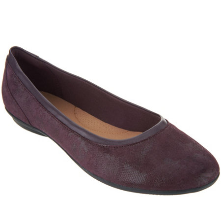 Clarks Collection Leather Ballet Flats- Gracelin Mara