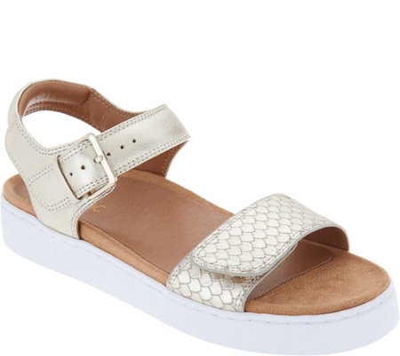 Vionic Leather Adjustable Sandals - Effie