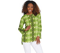 Linea by Louis Dell'Olio Tie Dye Printed Blouse - A306411