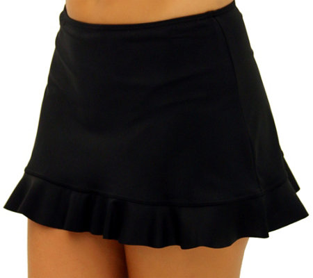 Fit 4 U Hips Solid Skirt w/ Flounce