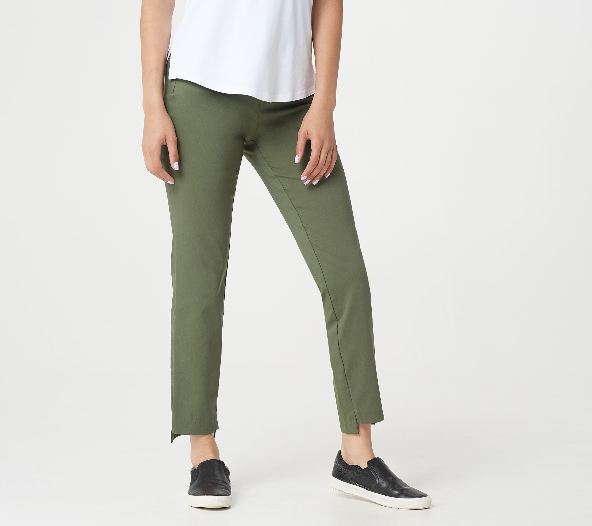 Martha Stewart Petite Stretch Twill Pull-On Ankle Pants Ink Blue 14P NEW A307744