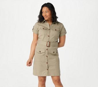 Du Jour Regular Button Front Utility Dress - A376111