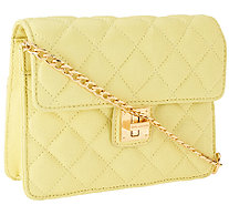Isaac Mizrahi Live! Small Bridgehampton Quilted Lamb Leather Bag - A262212