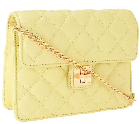Isaac Mizrahi Live! Small Bridgehampton Quilted Lamb Leather Bag