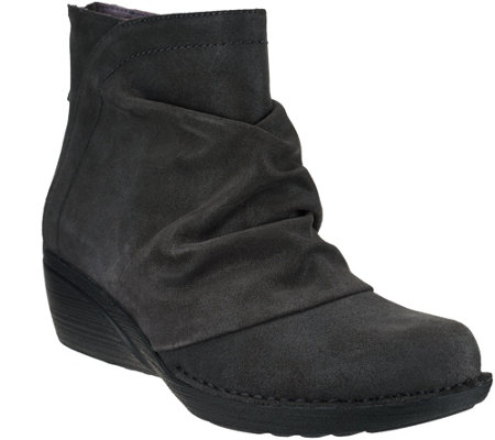 Dansko Leather or Suede Stain Resistant Wedge Ankle Boots - Arisa