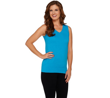 Susan Graver Sweater Knit V-neck Tank